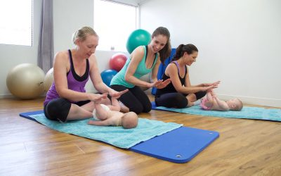Mums and bubs fitness class FitRight instructor